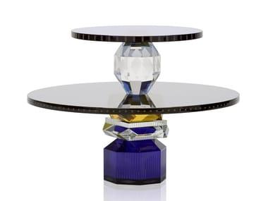 Round crystal tray DALLAS