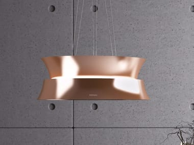 Island hood with activated carbon filters with integrated lighting DAMA