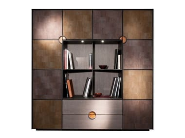 Modular storage wall with integrated lighting DAMA | Modular storage wall