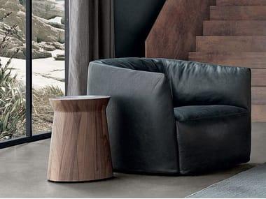 Tavolino rotondo in legno massello DAMA
