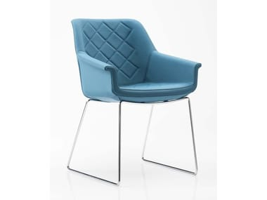 Sled base fabric chair DAMA | Sled base chair