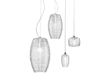 Glass pendant lamp DAMASCO SP