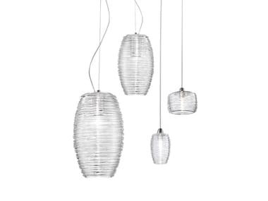 Luminária pendente de vidro DAMASCO SP