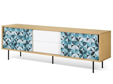 Sideboard with sliding doors with drawers DANN TILES | Sideboard with drawers