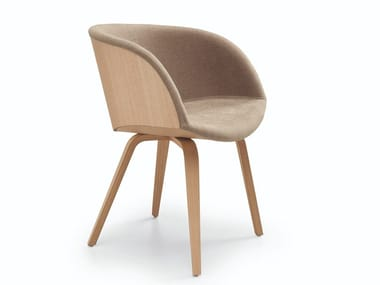 Fabric chair with armrests DANNY P