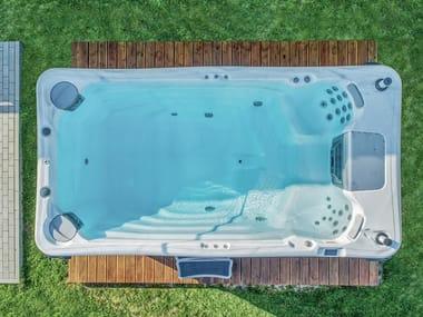 Minipiscina con nado contra corriente para exterior DANUBE W-FLOW