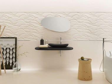 White-paste wall/floor tiles with stone effect DANUBIO