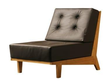 Upholstered cherry wood armchair DAPHNE   Armchair