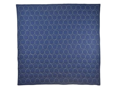 Cotton quilt DARK BLUE & WHITE CIRCLES | Quilt