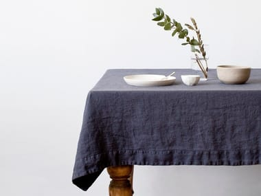 Washed linen tablecloth DARK GREY | Tablecloth