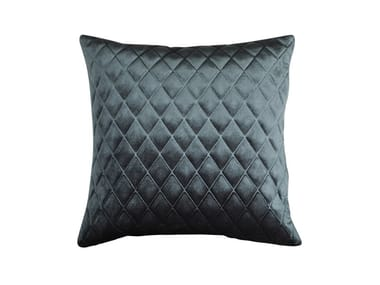Square quilted velvet cushion DAYTONA | Cushion