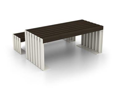 Tavolo per spazi pubblici rettangolare in acciaio DEACON | Tavolo per spazi pubblici