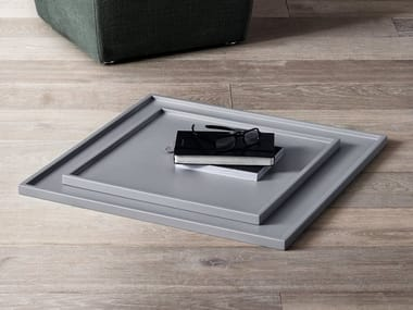 Square wooden tray DEAN