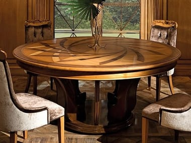 Extending round wooden table DECÒ | Table