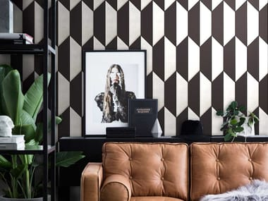 Indoor leather wall tiles DECADENCE