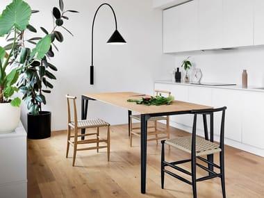 Mesa extensível de jantar retangular DECAPO