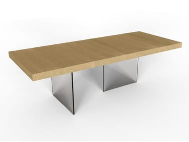 Rectangular oak table DECK | Table
