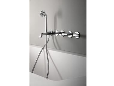 Wall-mounted bathtub set with hand shower DECO ICONA | Bathtub set