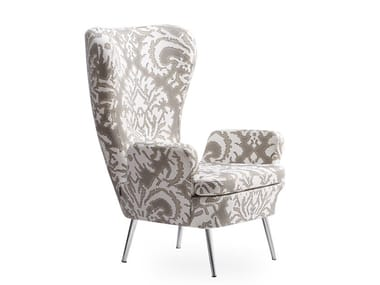 Wing fabric armchair DECO | Armchair