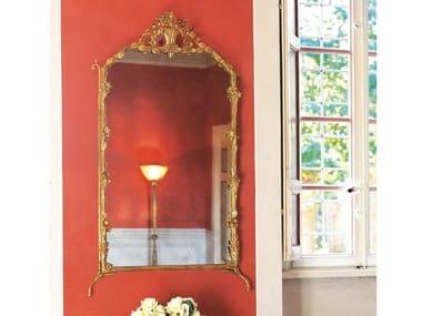 Rectangular framed wall-mounted mirror DECOR