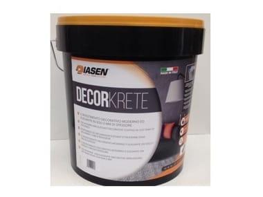 Microfine-cement coating for indoor and outdoor DECORKRETE