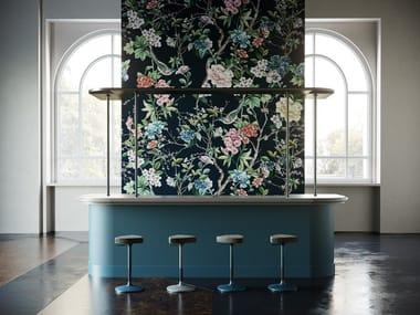 Papel de parede ecológico de flores DECOUPAGE