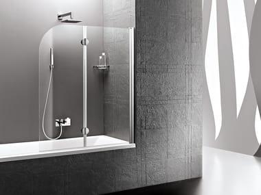 Bathtub wall panel with fixed side DEDALO | Bathtub wall panel