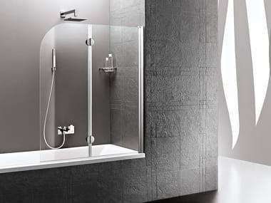 Folding glass bathtub wall panel DEDALO | Folding bathtub wall panel