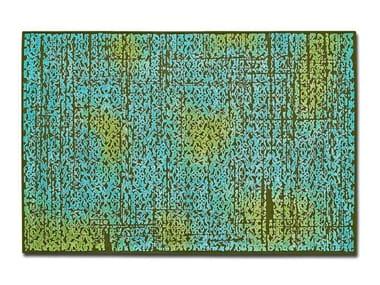 Rectangular wool rug DEEP FOREST