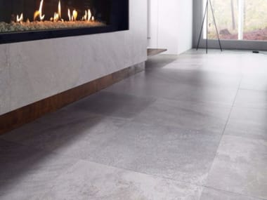 Porcelain stoneware wall/floor tiles with stone effect DEEP LIGHT GREY