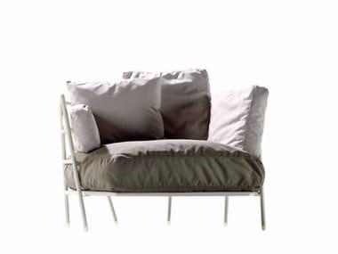 Fabric armchair DEHORS - 370_O