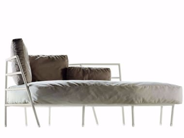 Upholstered fabric Garden daybed DEHORS - 373_O