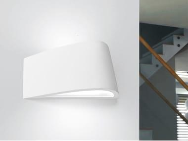 Direct-indirect light gypsum wall light DELFI