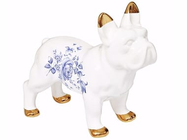 Ceramic decorative object DELFT CERAMIC BULLDOG