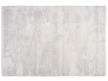 Solid-color rectangular silk rug DELICE