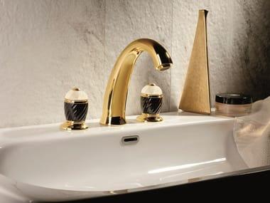 Rubinetto per lavabo a 3 fori da piano DELUXE | Rubinetto per lavabo a 3 fori