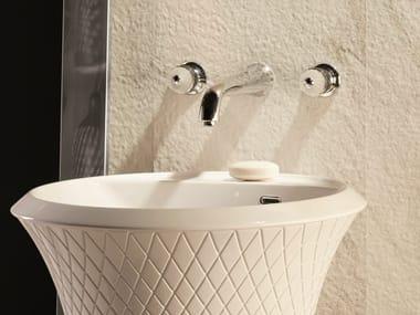 3 hole washbasin tap without waste DELUXE | 3 hole washbasin tap