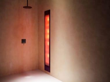 Doccia solare a raggi UV e infrarossi ad incasso DELUXE | Black