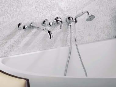 Set vasca a 5 fori a muro con doccetta DELUXE PRESTIGE | Set vasca
