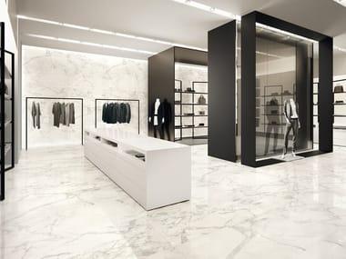 Pavimento/rivestimento effetto marmo DELUXE WHITE