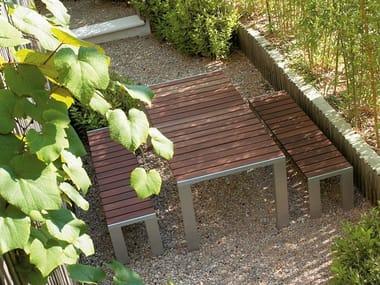 Rectangular teak table DENEB | Teak table