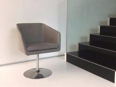 Swivel upholstered chair DENISE | Swivel chair