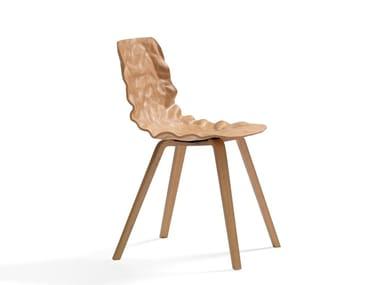 Sedia in legno impiallacciato DENT WOOD