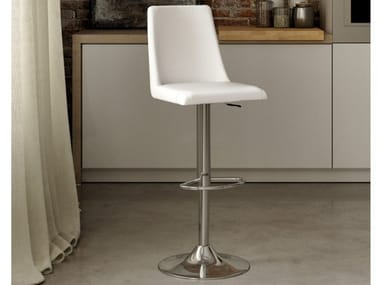 Stool with gas lift with footrest DENVER