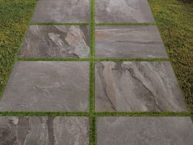 Porcelain stoneware outdoor floor tiles with stone effect DENVERSTONE | Outdoor floor tiles