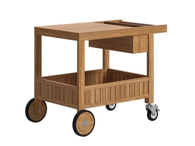 Teak garden trolley DESERT | Food trolley