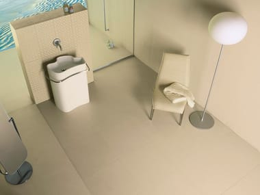 Porcelain stoneware wall/floor tiles with concrete effect with resin effect DESERT