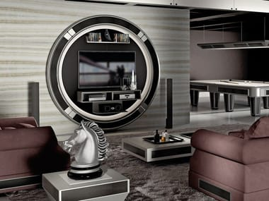 Lacquered TV cabinet with cable managet DESIRE STARGATE By ...