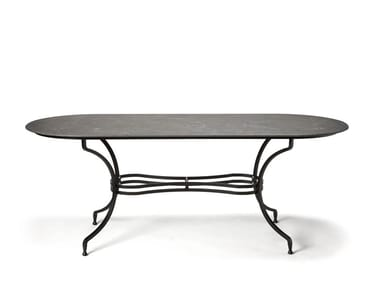 Oval ceramic garden table DESIREE | Oval table