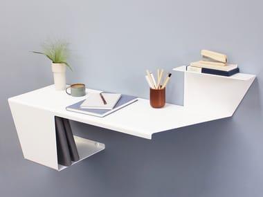 Wall mounted powder coated aluminium secretary desk DESK